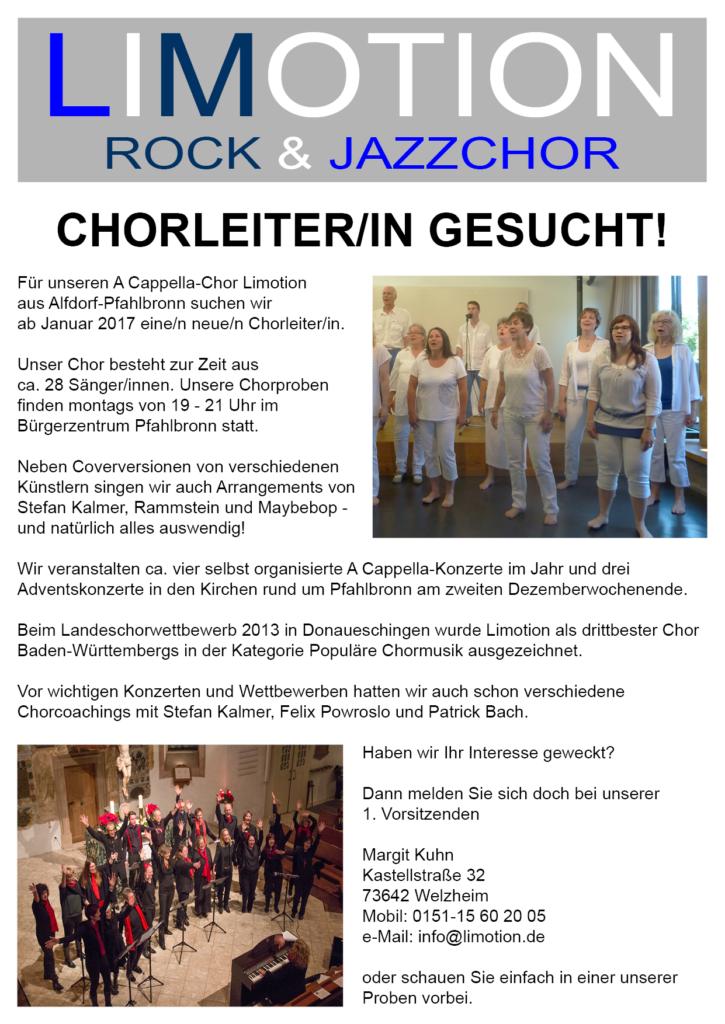 Chorleiter/in gesucht